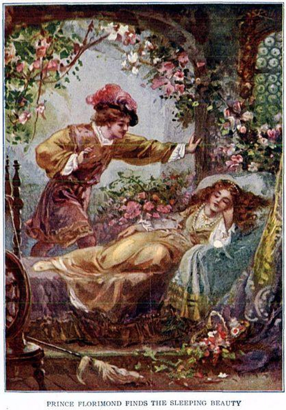 418Px Prince Florimund Finds The Sleeping Beauty   Project Gutenberg Etext 19993
