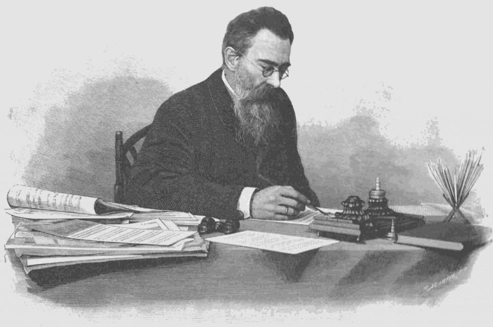 Nikolay A  Rimsky Korsakov In His Cabinet
