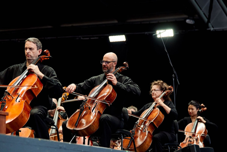 Cellos On Stage